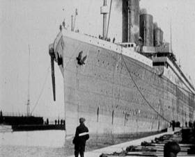 Extensive archive footage is used in the Titanic documentary to be aired next week by TG4