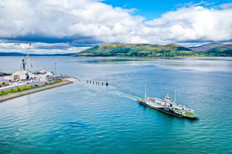 Coastal car ferry service on Carlingford Lough is set to recommence next Saturday, 15 May. The ferry, Afloat adds is Aisling Gabrielle which links Greenore, Co Louth (above) and Greencastle, Co Down.