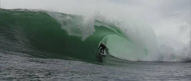 A shot from Mick Fanning's recent Irish surf trip