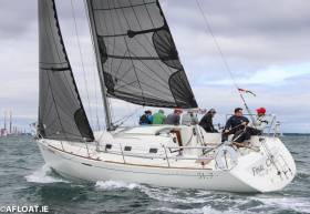 John Minnis's Royal Ulster Yacht Club entry, Final Call leads the Beneteau 31.7 scratch fleet at Volvo Dun Laoghaire Regatta