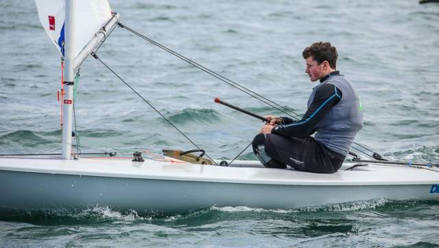 Former Topper  World Champion Liam Glynn from Ballyholme Yacht Club