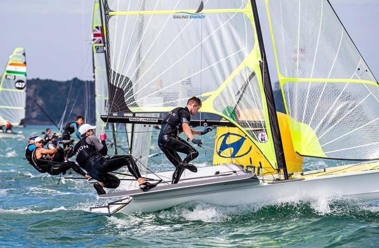 49er sailors Ryan Seaton and Seafra Guilfoyle