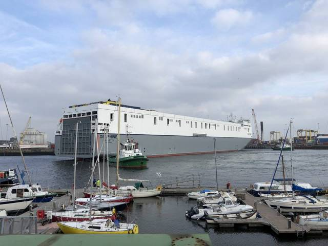 New Ro-Ro Giant Sister Makes Debut in Dublin Port On Direct Ireland