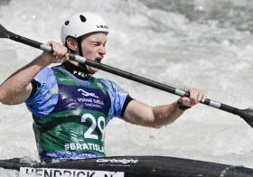 Noel Hendrick racing at the European Under-23 Championships in Bratislava