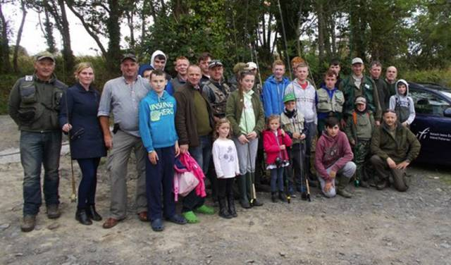 Members of Boyne Valley Fishing Hub enjoy their fishing trip to Courtlough Trout Fishery as part of IFI's Dublin Angling Initiative