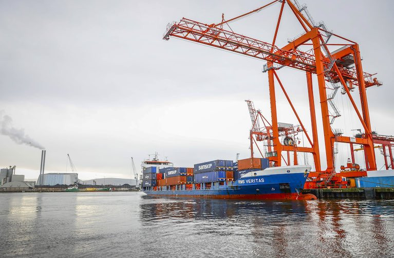 New arrival - RMS Veritas, Samskip's first direct container sailing between Amsterdam and Ireland. See slideshow below