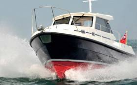 The pilot boat, like this one, was set alight and sunk just two weeks after delivery