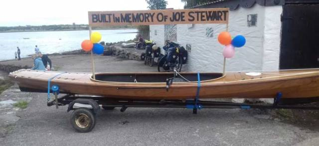 Kinvara Artist Rowing Shannon-Erne Waterway in Handmade Boat for Hospice