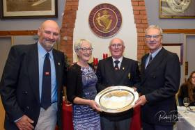 RCYC Cruising Boat of the Year Trophy - (from left) Rear Admiral Cruising Mike Rider, Maeve McDonagh, Admiral Pat Farnan and Seamus Gilroy