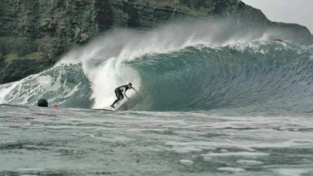 A still from surfing documentary Between Land and Sea, screening Tuesday night 20 August on RTÉ 2