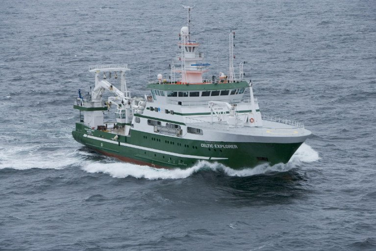 The RV Celtic Explorer will head to ICES area 6a for the next survey leg from 10-21 April