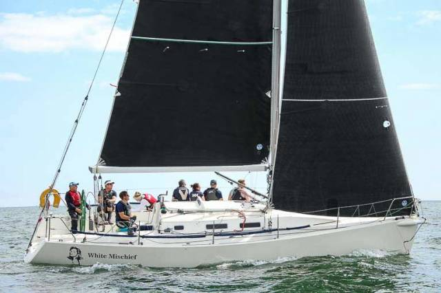 White Mischief (Tim and Richard Goodbody) was the DBSC Cruiser 1 IRC winner