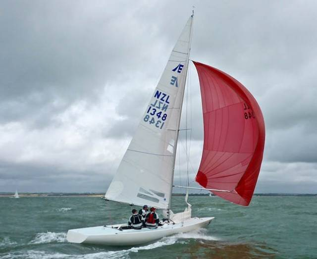 The top Etchells team today was Feng Shui, from the Royal Akarana Yacht Club, Auckland, NZ