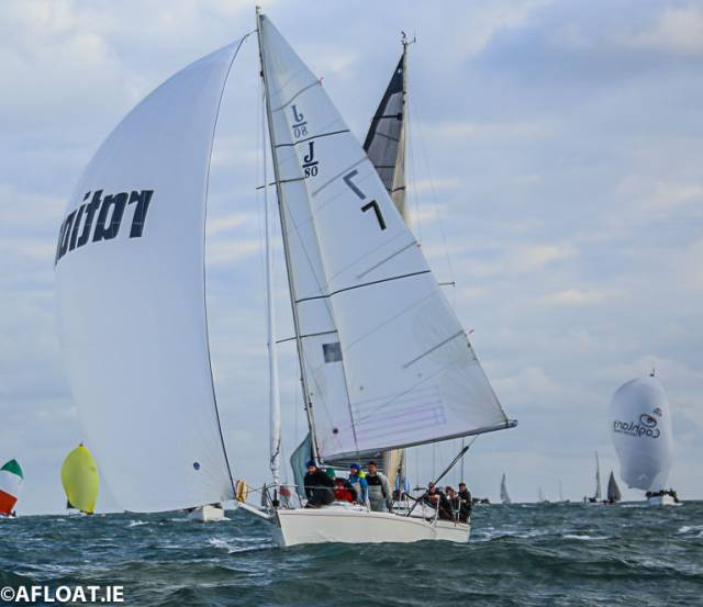 The Royal St. George Yacht Club J80 'Rationel' is part of the 2019 DBSC Spring Chicken fleet