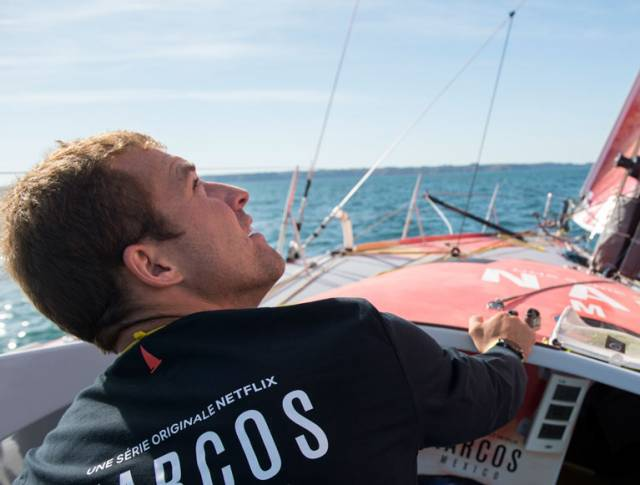 Goodchild, 28, was racing well in strong conditions, sailing in around 30 knots of southwesterly wind and big seas and had just moved into third place