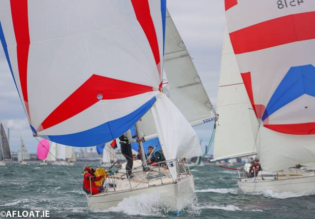 Great breeze on day two of the Sigma National Championships as part of Volvo Dun Laoghaire Regatta