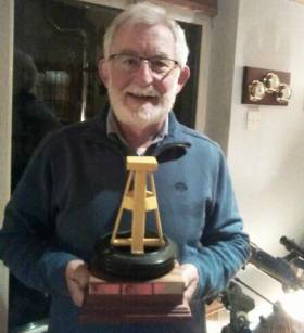 Jim Doyle Mbsc owner of Green Sleeves with the 'Alta To Starboard To Finish' Trophy