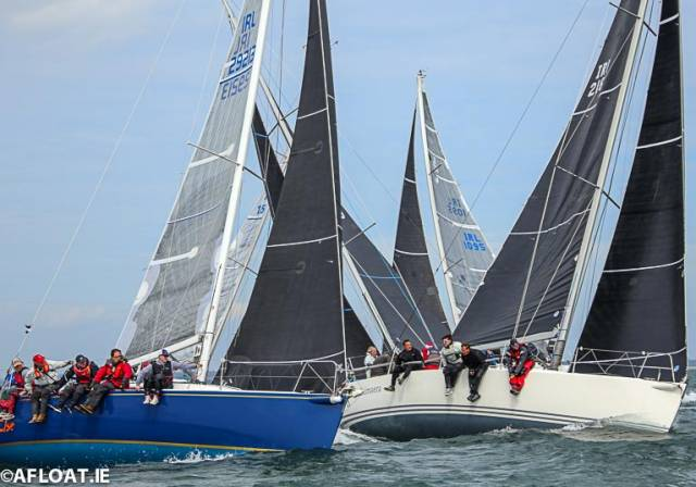 A ten boat fleet contested the J109 Easterns on Dublin Bay
