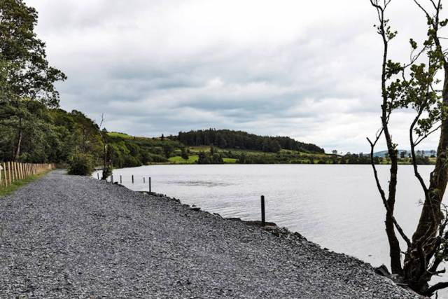 The new angling stretch at South Lodge, Lough Muckno