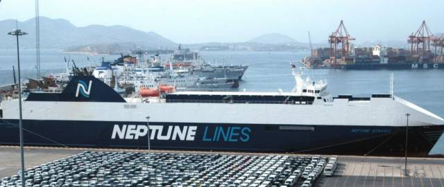 New Weekly Car Import Service to Rosslare Europort Operated by Neptune Lines
