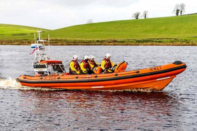 The new Atlantic 85 class lifeboat at Carrybridge