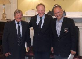 Incoming Chairman Michael Boyd (centre) with Peter Wykeham-Martin and Alp Doguoglu pictured at the Royal Irish Yacht Club in Dun Laoghaire