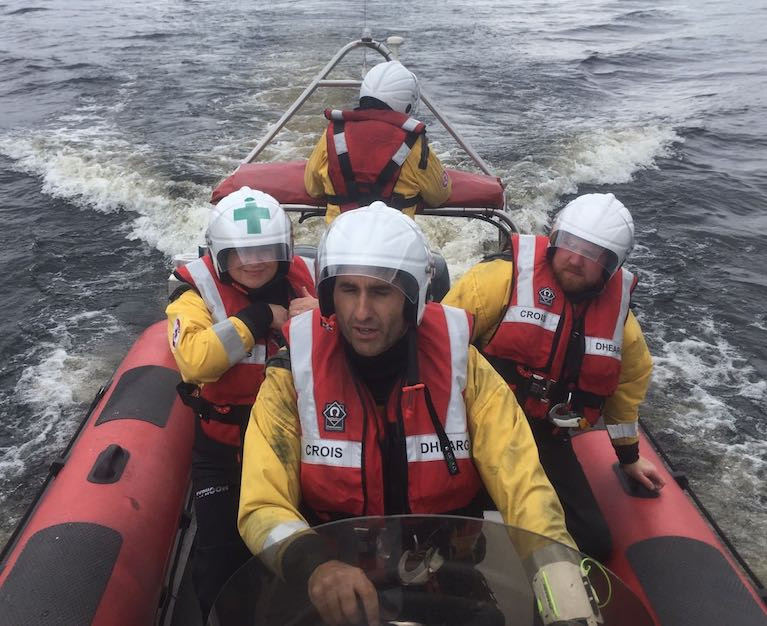 Corrib Mask Search & Rescue volunteers on a training day on Lough Corrib