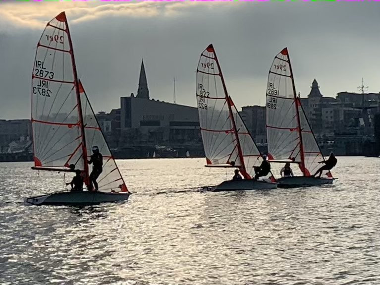 Youth skiff 29er training at Dun Laoghaire Harbour