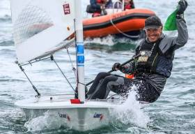 National Yacht Club's Mark Lyttle (a one time keen DMYC Frostbiter when he was living in Dublin) was crowned champion on home waters at the recent Laser Master Worlds