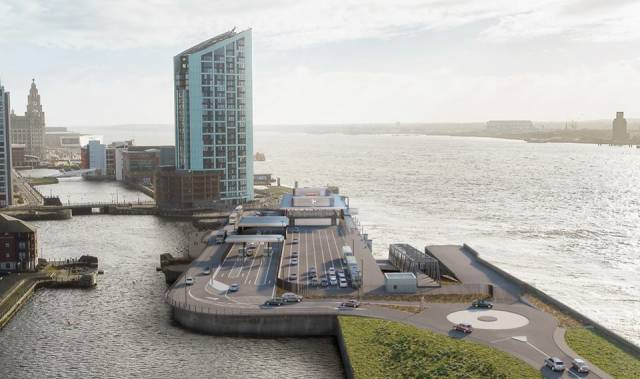 Tynwald (Manx Parliament) has approved £38m of the Isle of Man's government funding for the (ferry terminal) development AFLOAT adds at the Princes Dock site in Liverpool, England.