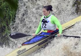 Jenny Egan competing in the Liffey Descent last year.