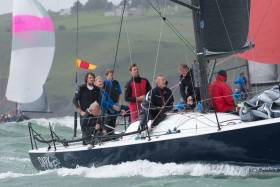 Class Zero leader Dark Angel from Wales competing in Cork Harbour today. See Bob Bateman's ICRA photo gallery from day two below