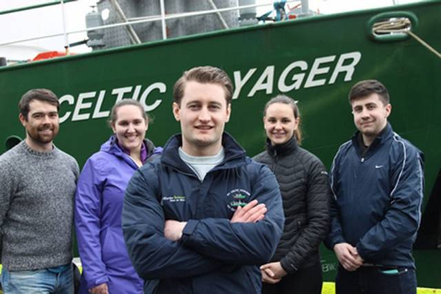 The Neprophs survey team on the RV Celtic Voyager this month