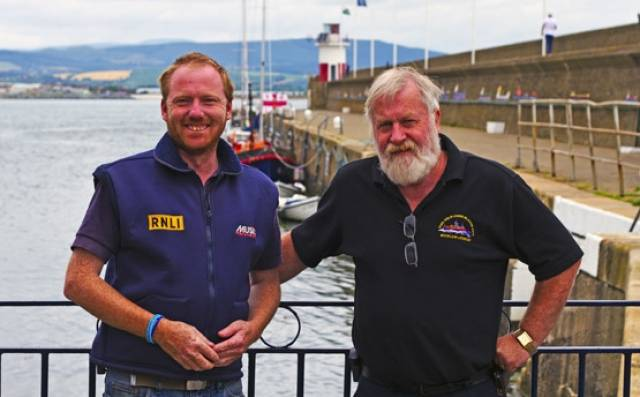 Des Davitt and Dave O'Leary have received awards from the RNLI in recognition of their service over the years