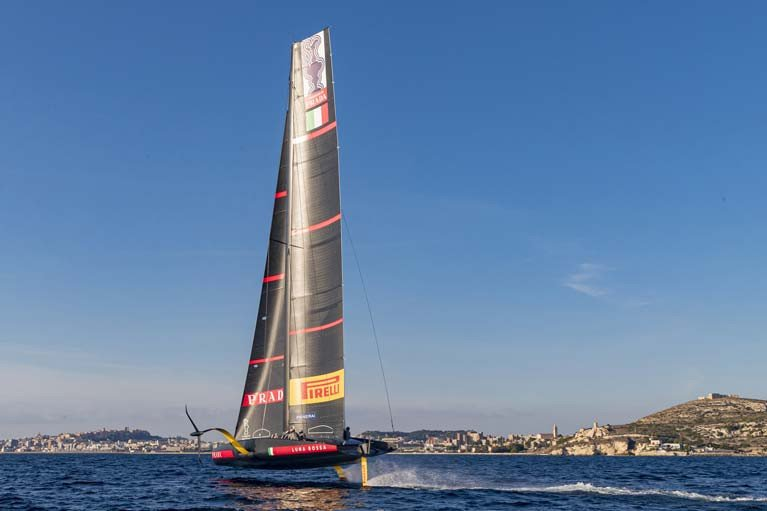 Luna Rossa Prada Pirelli Team in Sardinia prior to lockdown