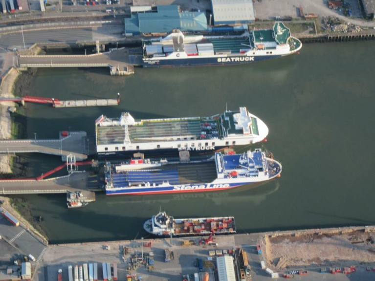 RoRo freight ferries Afloat adds occupy berths in the UK at the Port of Heysham on the Irish Sea