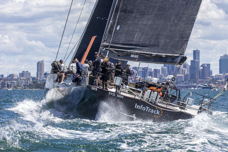 Christian Beck's InfoTrack was all-class in Tuesday's showcase Sydney Harbour race