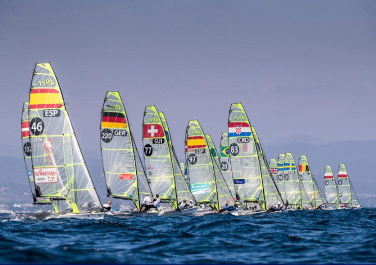 Racing at the 2018 World Cup Series Hyères