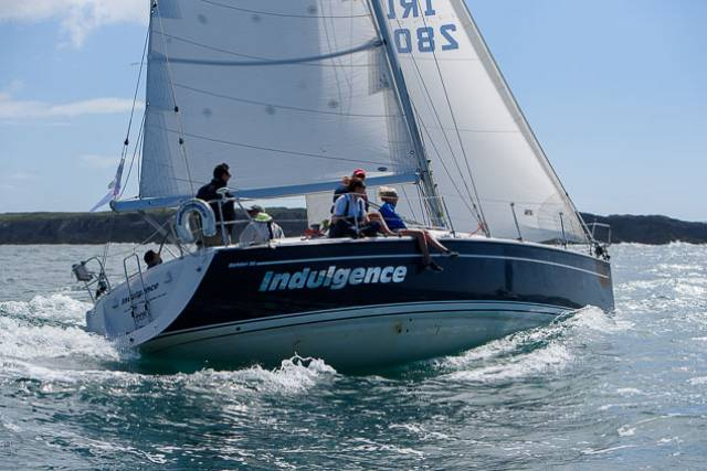 Indulgence racing at last year's Calves Week Regatta