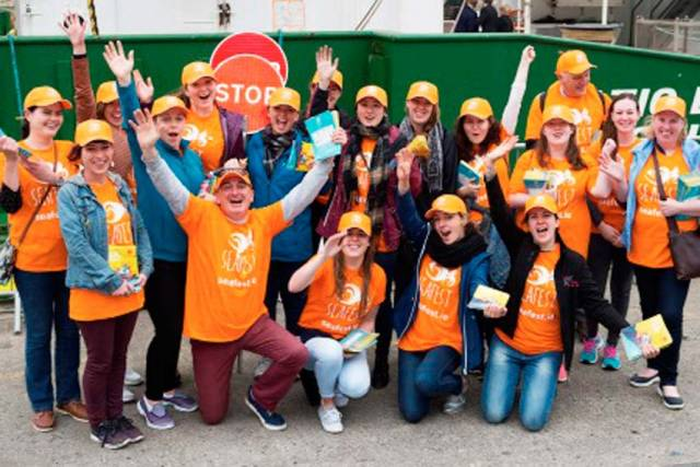 Volunteers at last year's SeaFest in Galway