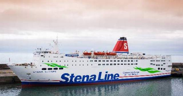 Berthed in Rosslare, Stena Europe which saw a drop in vehicle traffic travelling from Ireland to Fishguard