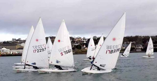 The first day of the league attracted an excellent entry of 15 boats, 12 of which were standard rig lasers