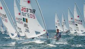Baltimore's Fionn Lyden lies 73rd after the first day's racing at the Laser Worlds in Mexico