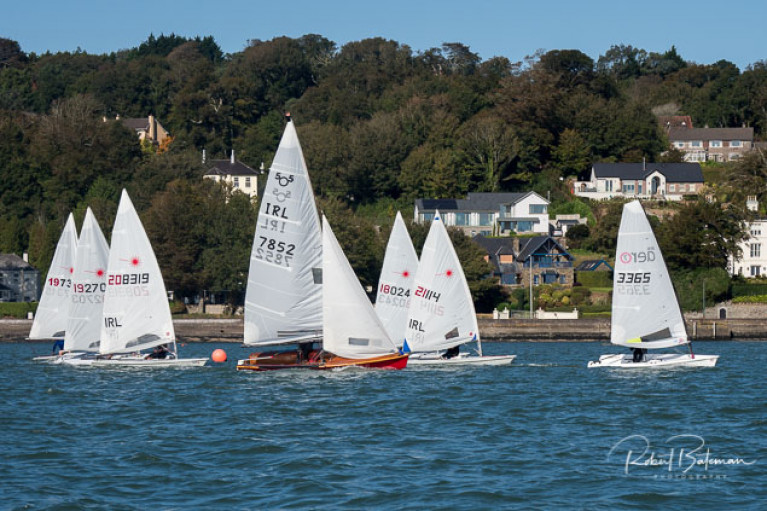 505s and Laser dinghies compete in Class One of the September dinghy league a Monkstown Bay Sailing Club. Scroll down for photo gallery