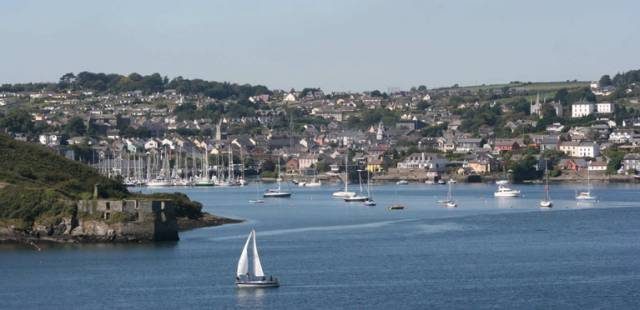 A beautiful sight for the sea-battered mariner. Hospitable Kinsale and its marina opens to view as you sail in past the forts