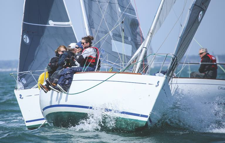 Tight racing in the DBSC Beneteau 211 class