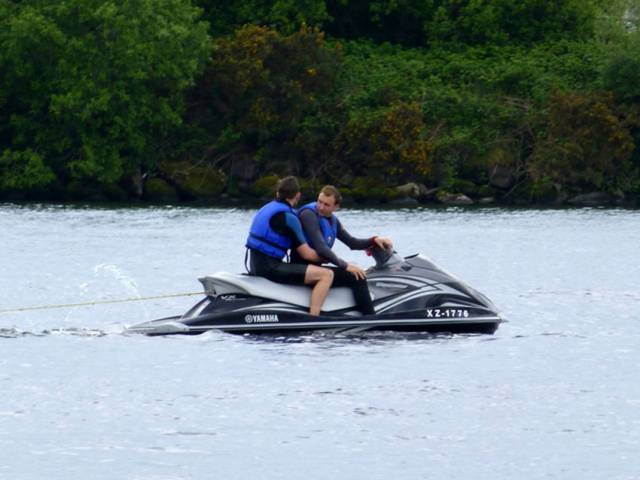 Jetskiiers like those pictured here in 2015 are seen regularly in the Muckross Bay area of Lower Lough Erne