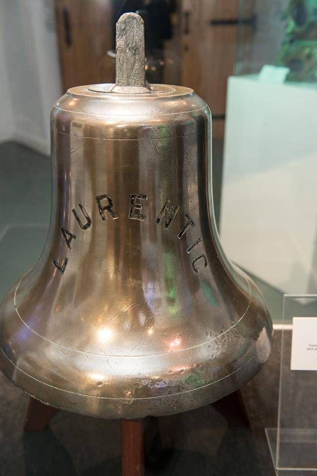 The bell of the liner S.S. Laurentic of the White Star Line, which sank in Lough Swilly, Co. Donegal over a century ago will be on display in an exhibition held in the Guildhall, Derry starting today and running to 24 January.