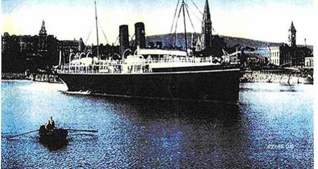 RMS Leinster was torpedoed by a German submarine not long after it had left Kingstown (Dún Laoghaire) harbour on its way to Holyhead