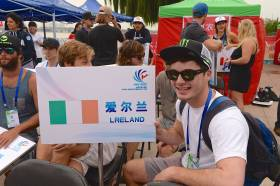 Landing his first 1080, David O'Caoimh from 'Lreland' (Sic) has high hopes for Linyi, China